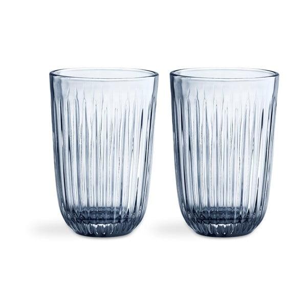 Sada 2 modrých skleněných sklenic Kähler Design Hammershoi, 330 ml
