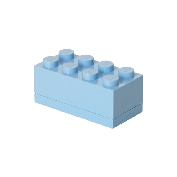 Cutie depozitare LEGO® Mini Box II, albastru deschis