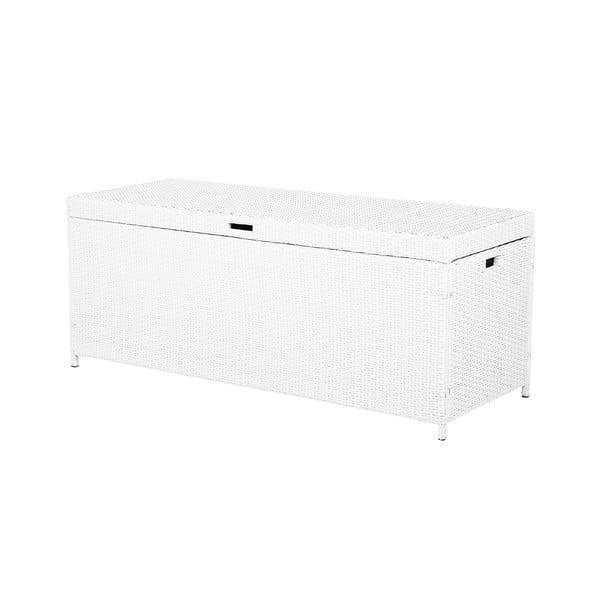 Bílý úložný box z umělého ratanu Monobeli Provence