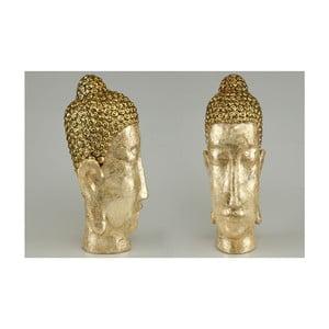 Dekorativní hlava Buddha Gold, 34 cm