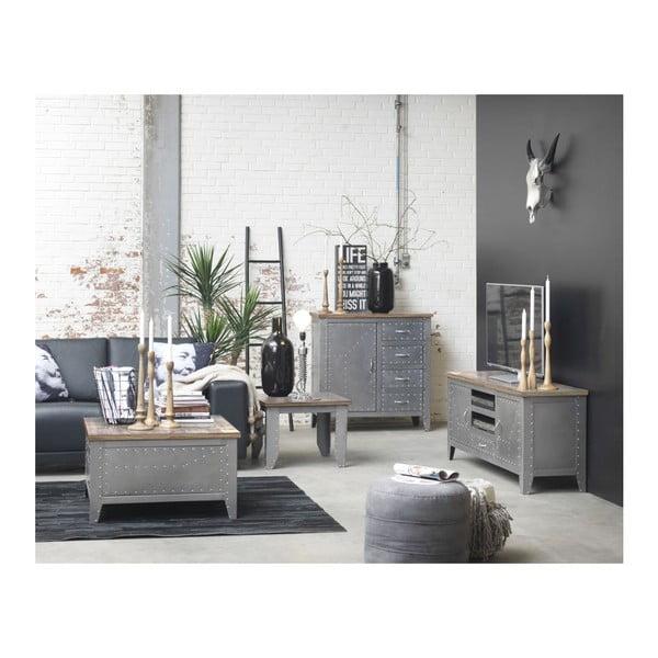 Odkládací stolek Detroit s úložným prostorem, 80x80x45 cm