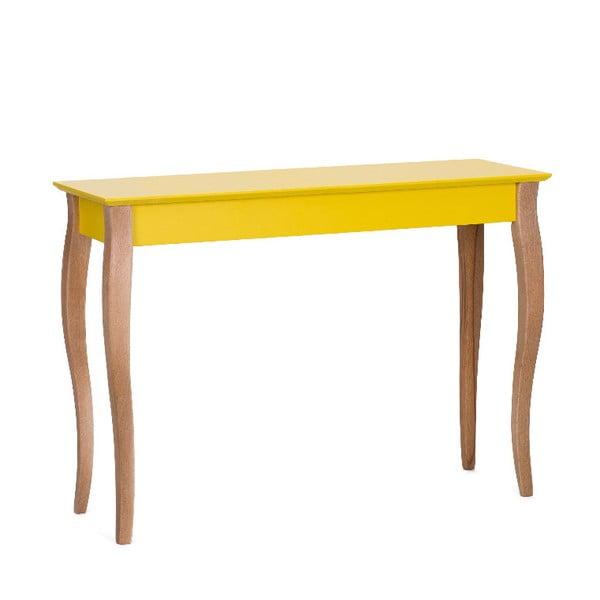 Žltý odkladací konzolový stolík Ragaba Dressing Table, 105×74cm