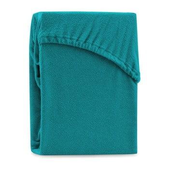 Cearșaf elastic pentru pat dublu AmeliaHome Ruby Turquoise, 180-200 x 200 cm, turcoaz imagine