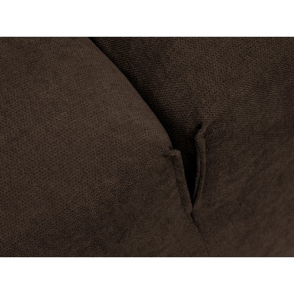 Hnědá rohová rozkládací pohovka Windsor & Co Sofas Virgo, pravý roh