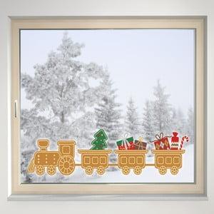 Elektrostatická samolepka Perníčkový vlak