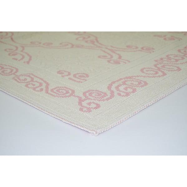 Pudrově růžový odolný koberec Vitaus Primrose, 140x200cm