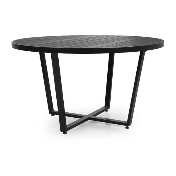 Černý zahradní jídelní stůl Brafab, ∅130cm