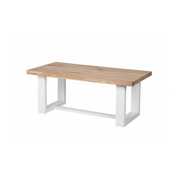 Konferenční stolek s bílým podnožím Durbas Style Wood