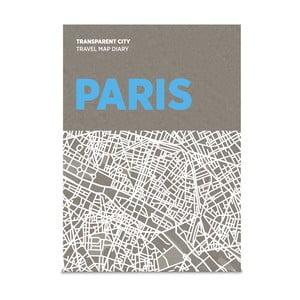 Mapa na popisky Palomar Transparent City Paříž