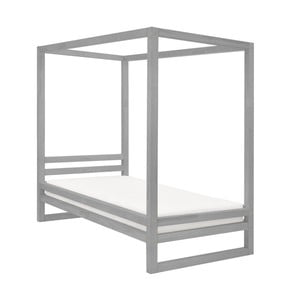 Šedá dřevěná jednolůžková postel Benlemi Baldee, 200x80cm