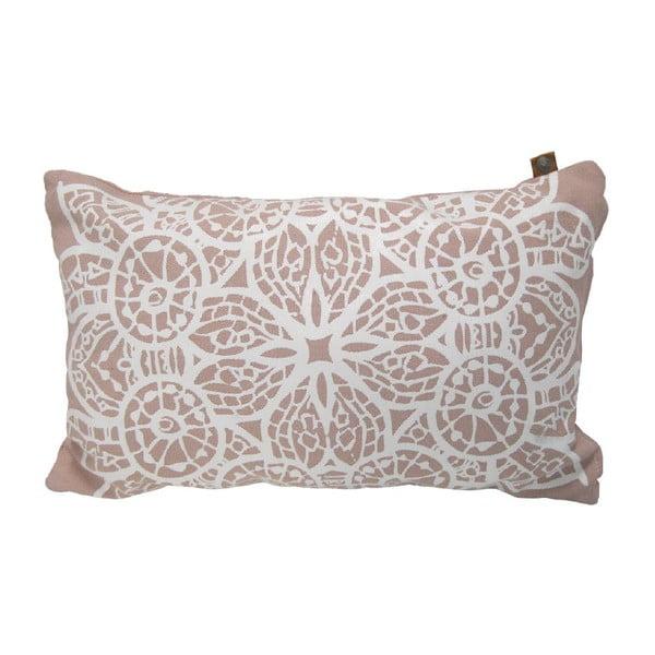 Polštář Overseas Lace Blush/White, 30 x 50 cm