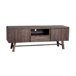 Tmavě hnědý dubový televizní stolek  Folke Heimdal