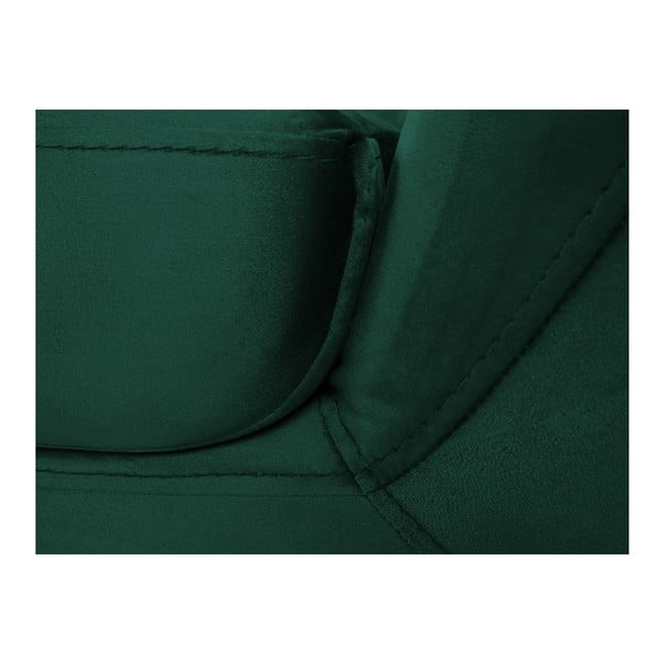 Zelená třímístná pohovka s černými nohami Mazzini Sofas Benito