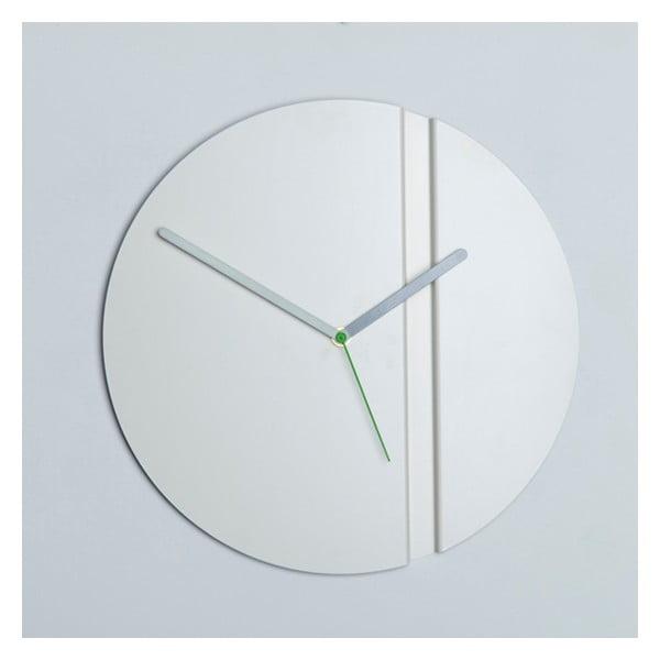 Nástěnné hodiny Pleat Fold, bílé