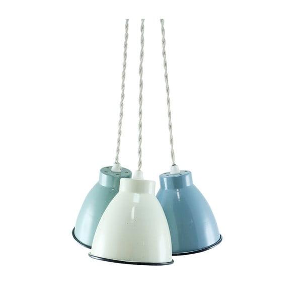 Trio stropních světel, zelená/modrá/krémová