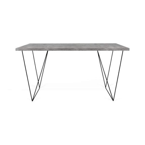 Stůl v betonovém dekoru TemaHome Flow, 140 x 75 cm
