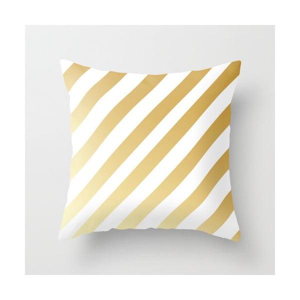 Povlak na polštář Gold Stripes, 45x45 cm