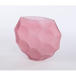 Skleněná váza Oleandra 25 cm, růžová