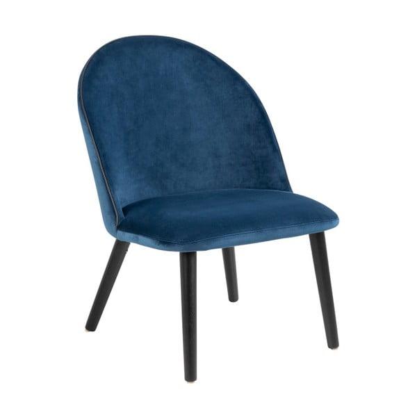 Modrá polstrovaná židle Actona Manley