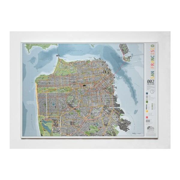 Mapa San Francisca The Future Mapping Company Street Map, 100x70cm