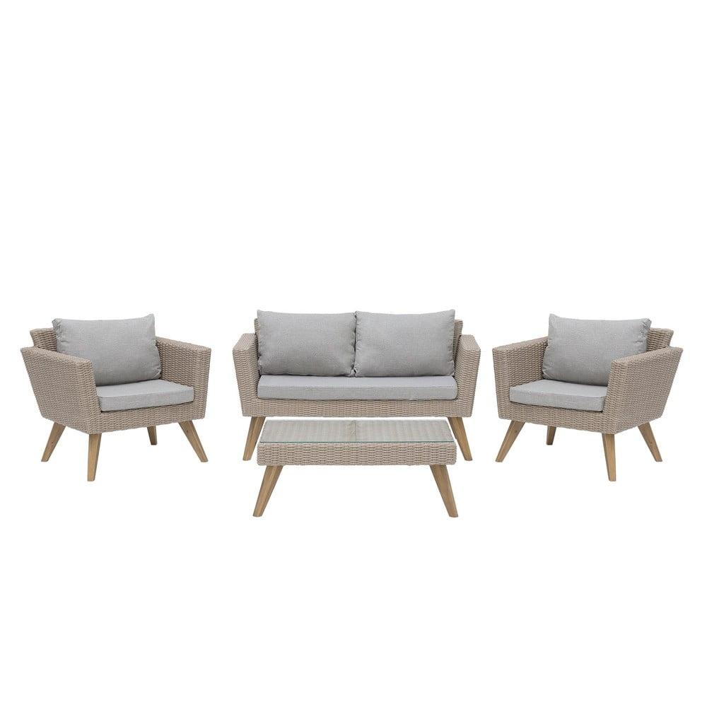 Set zahradního nábytku z umělého ratanu Monobeli California
