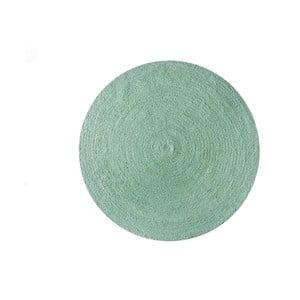 Koberec z juty Linen Couture Rug Circle Green, ⌀ 140 cm