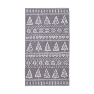 Šedý ručník Nordic Winter, 90x140 cm