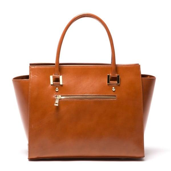 Kožená kabelka Mangotti 382 Cognac