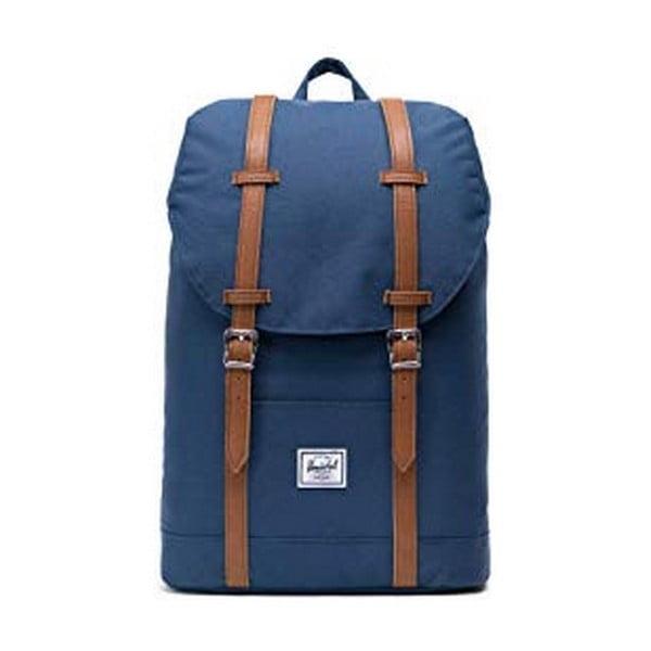 Tmavě modrý batoh s popruhy ze syntetické kůže Herschel Retreat