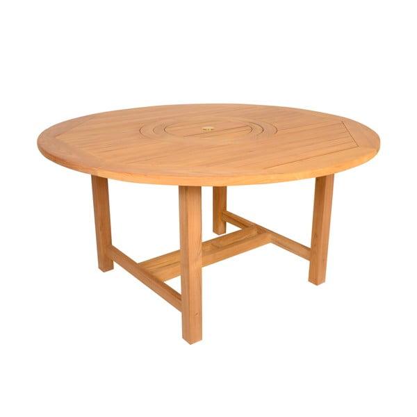 Zahradní jídelní kulatý stůl z teakového dřeva Ezeis Sun