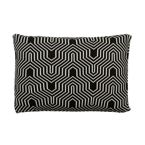 Polštář Graphic Knit Black, 40x60 cm