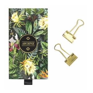 Sada kancelářských klipsů ve zlaté barvě Portico Designs Binder