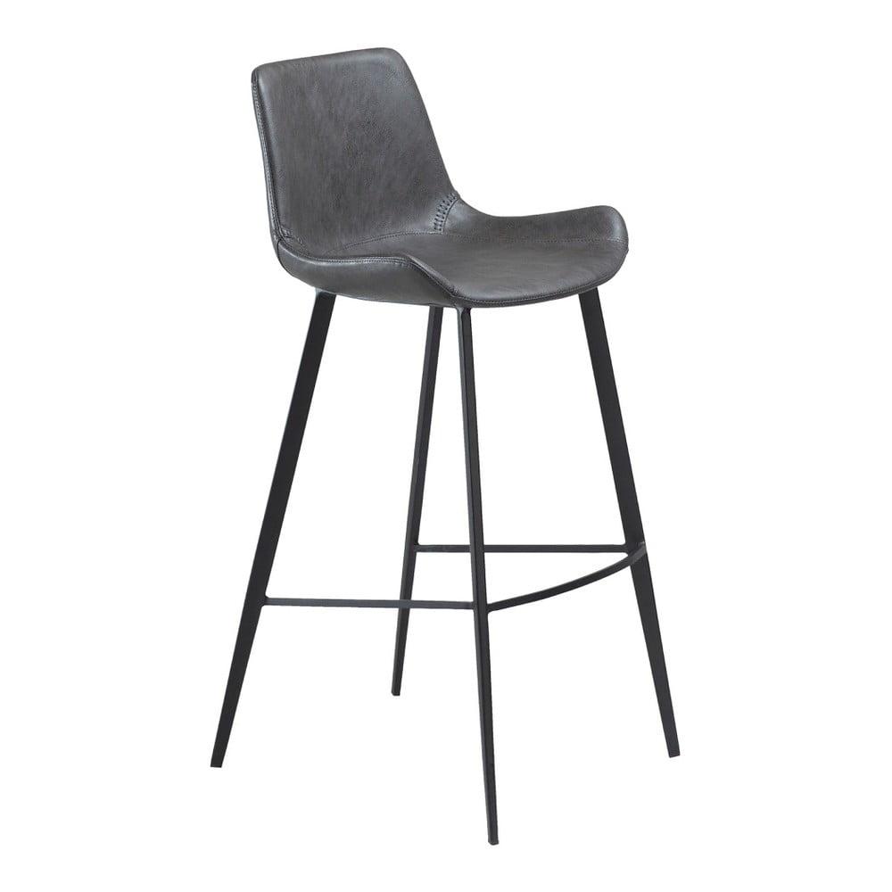 Šedá barová židle z eko kůže DAN–FORM Denmark Hype
