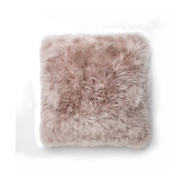 Světle hnědý polštář z ovčí kožešiny Royal Dream Sheepskin,30x30cm