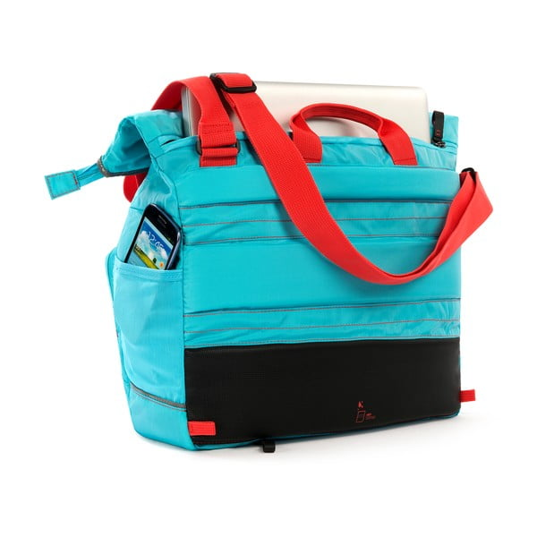 Messenger taška TUbí, modrá/oranžová