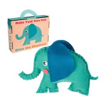 Set pentru confecționarea jucăriilor din pluș Rex London Elvis The Elephant de la Rex London