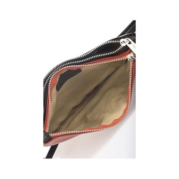 Kožená kabelka Krole Kody se dvěma kapsičkami, oranžová