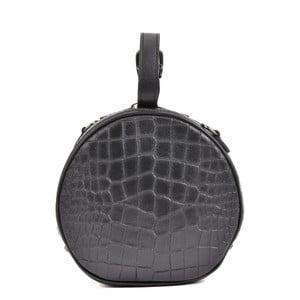 Černé kožené psaníčko Mangotti Bags Aura