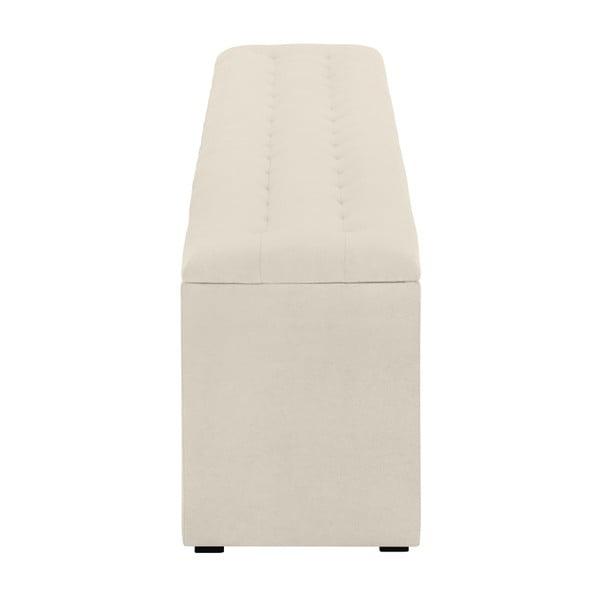 Krémový otoman s úložným prostorem Windsor & Co Sofas Nova, 140 x 47 cm