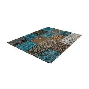 Zeleno-šedý koberec z bavlny Cotex Colorado, 140 x 200 cm