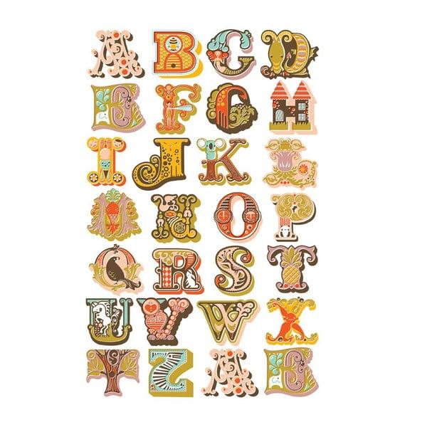 Samolepka Alphabet Medium