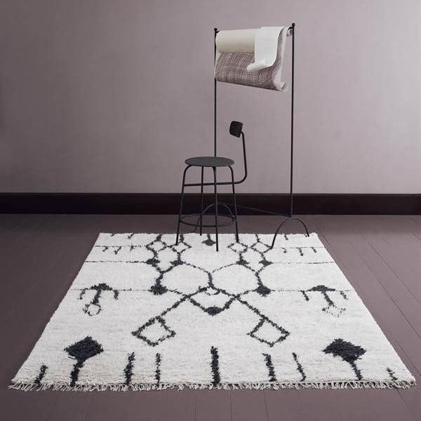 Vlněný koberec Aragon, 140x200 cm, bílý