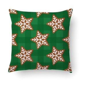 Zelený polštář Crido Consulting Starry Gingerbread, 40 x 40 cm