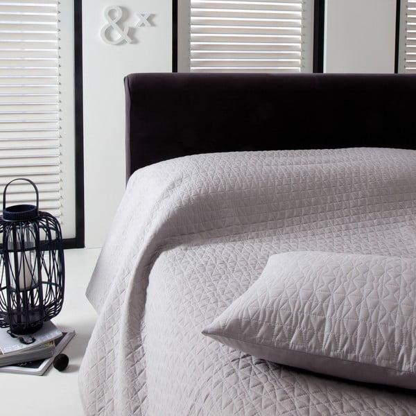 Přehoz přes postel Shape Silver, 270x270 cm