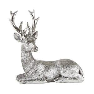 Dekorativní soška ve tvaru jelena KJ Collection, výška 14 cm