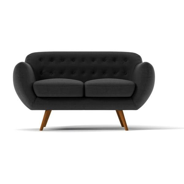 Sofa Indigo pro dva, tmavě šedé