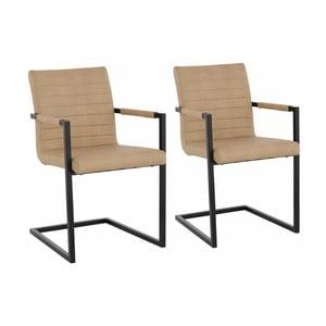 Sada 2 béžových  jídelních židlí s područkami Støraa Sandra