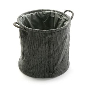 Černý úložný košík Versa Knitted, 36x38cm