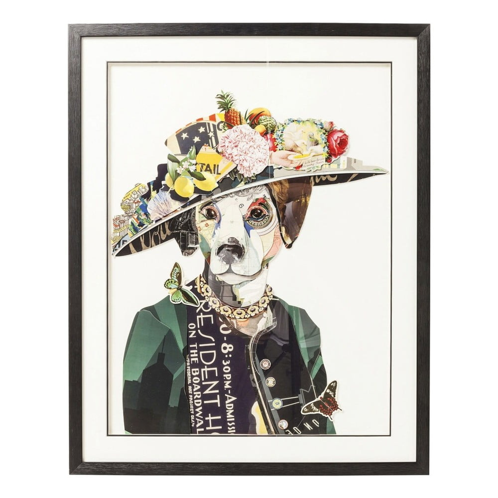 Obraz Kare Design Art Lady Dog 72 x 90 cm