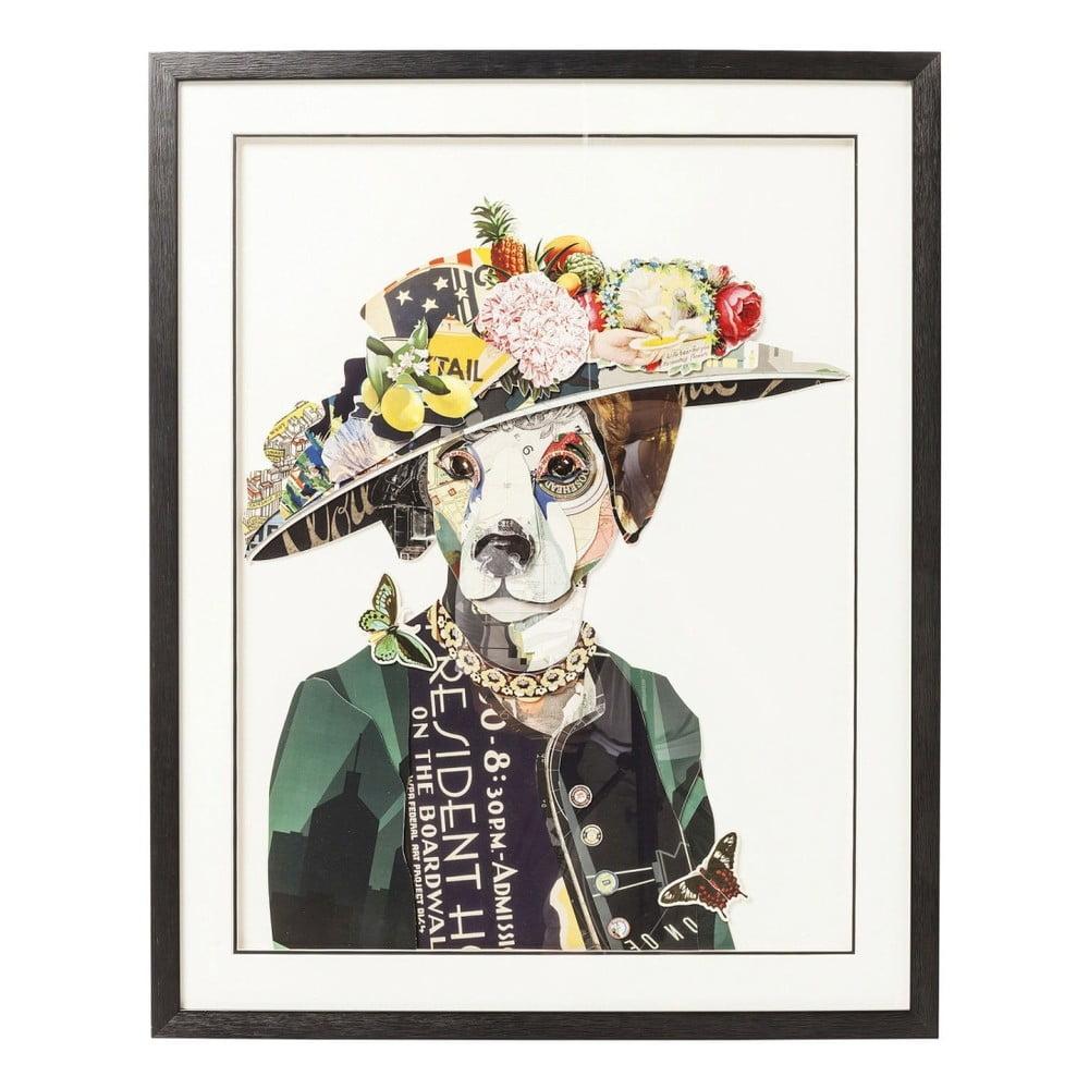 Obraz Kare Design Art Lady Dog, 72x90cm